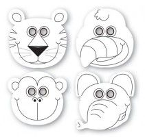 12 Dschungel Tiere Masken Tiere Masken Kinder Masken Basteln