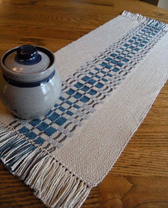 Table Runner Salt Glaze Blues Dresser Scarf Decor