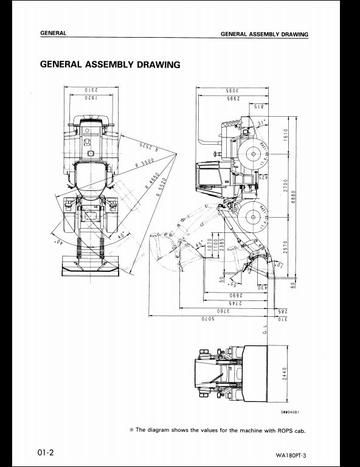 Komatsu WA180PT-3 Wheel Loader Service Repair Shop Manual