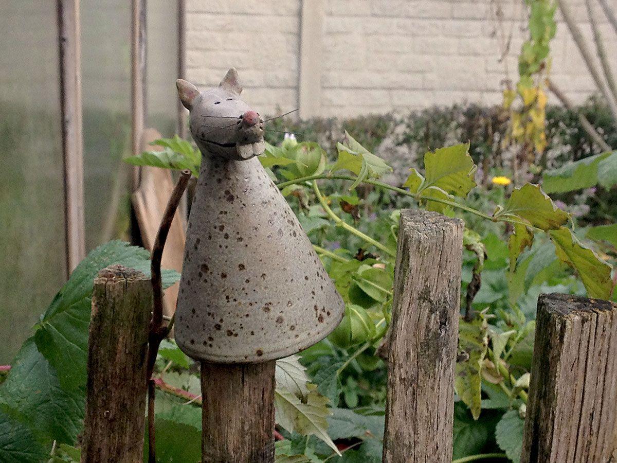 Zaunfigur Im Wintergarten Herbst Winter Garten Idylle Stimmung