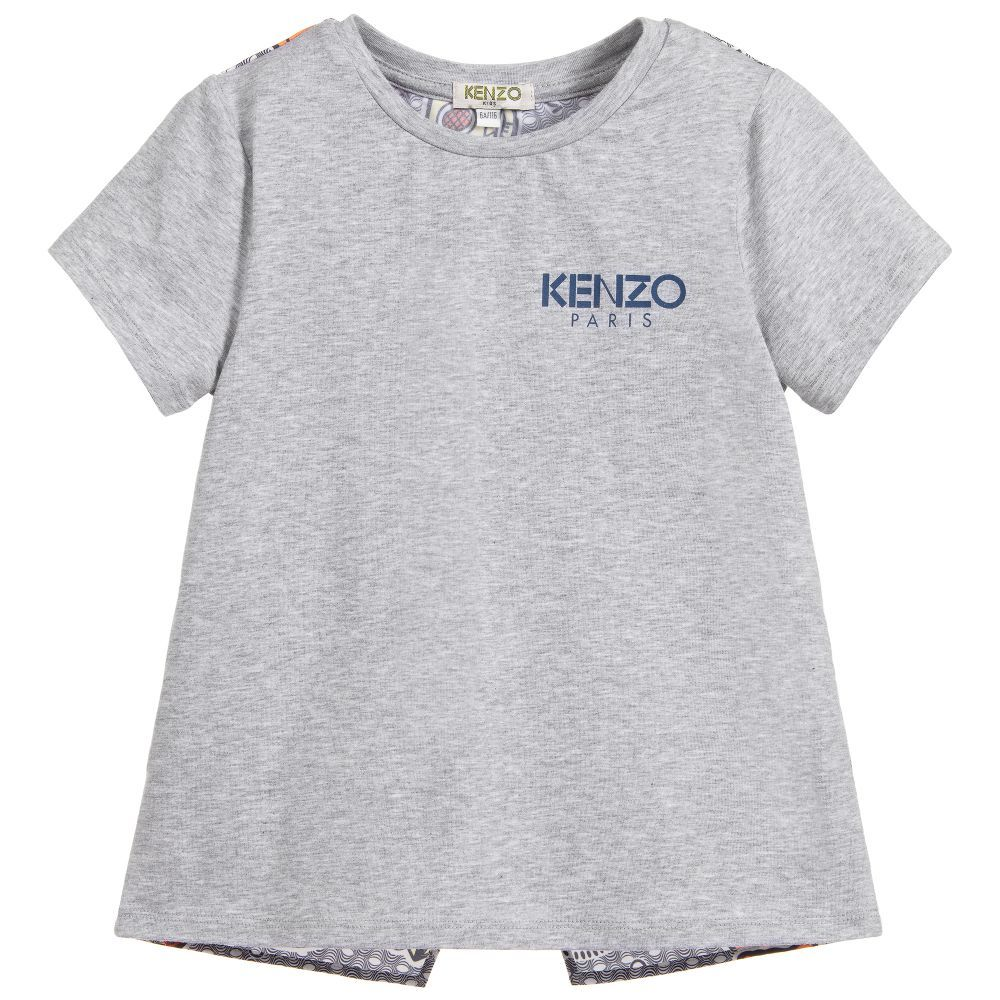 814a55ee Girls Grey Cotton Tiger Dress for Girl by Kenzo Kids. | DRESSES FOR GIRLS | Kenzo  kids, Cotton dresses, Dresses