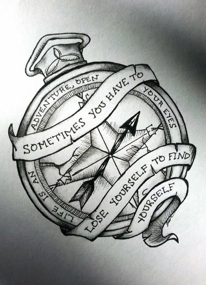 ▷ 1001 + ideas for a beautiful and meaningful compass tattoo