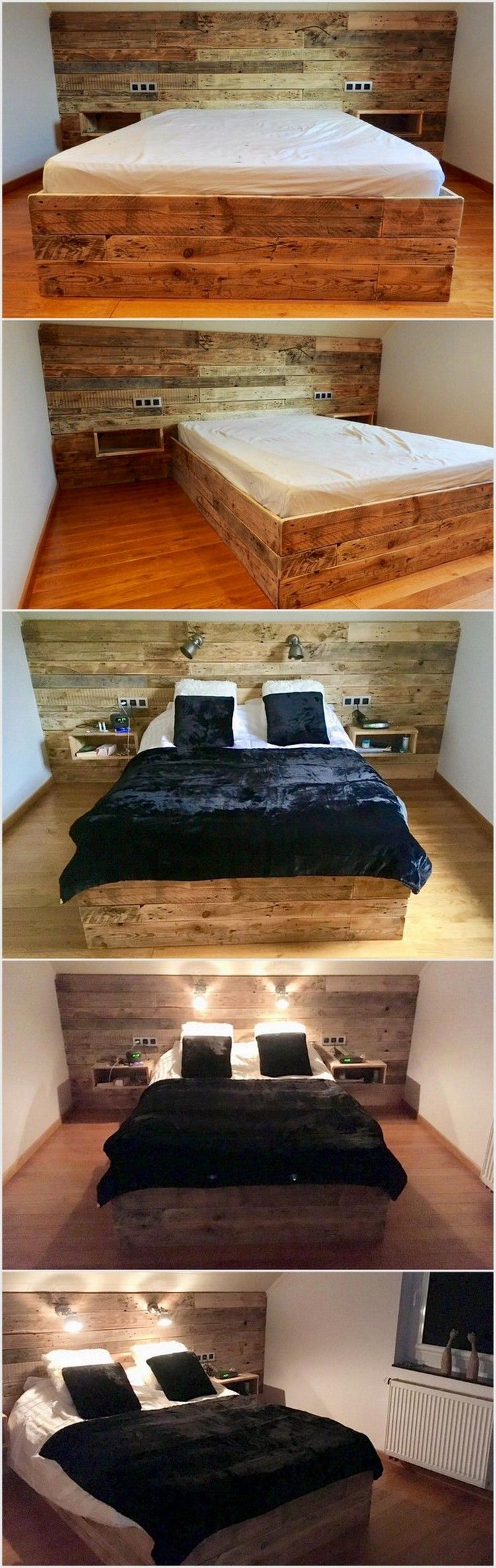 Classic Ideas for Wood Pallet Repurposing | Schlafzimmer, Betten und ...