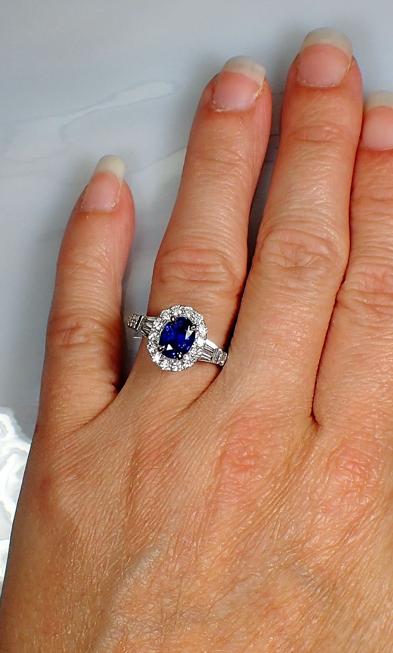 12 Carat Oval Ceylon Sapphire And Diamond Engagement Ring Diamond Engagement Rings Engagement Rings Rings
