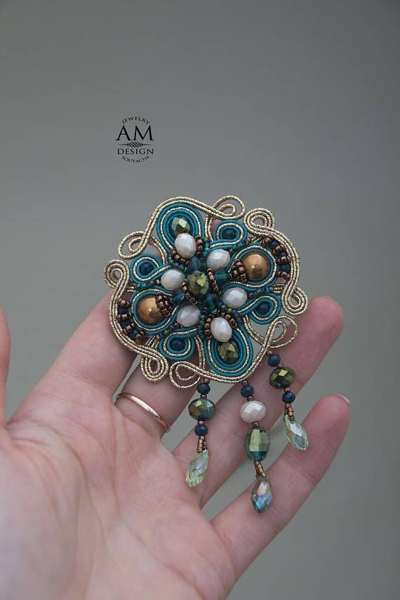 Inspirational jewelry mature gift pearl brooch pin green jewelry for inspirational jewelry mature gift pearl brooch pin green jewelry for women geometric brooch easter gift for wife soutache jewelry soutache jewelry and negle Images