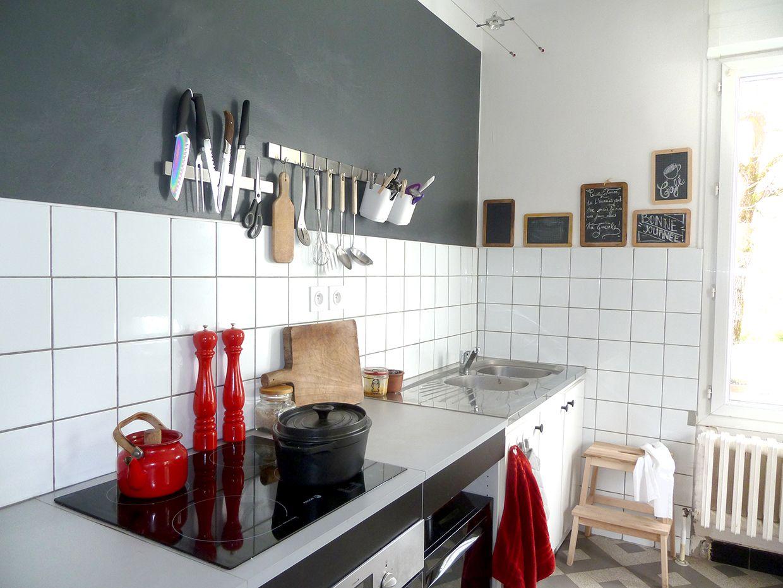 """Decoration cuisine vintage noir et rouge by """"Je ne suis pas une"""