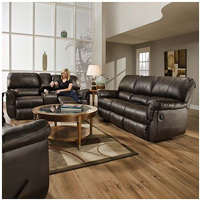 50365 Simmons Blackjack Cocoa Reclining Sofa And Loveseat