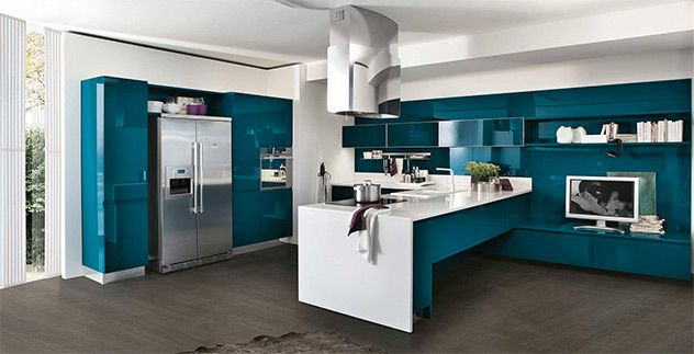 Cucina #Stosa modello #Bring dalle linee essenziali e contemporanee ...