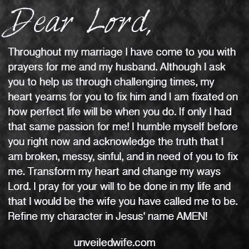 Prayer: Fix Me Lord | Prayer of the Day for Marriage