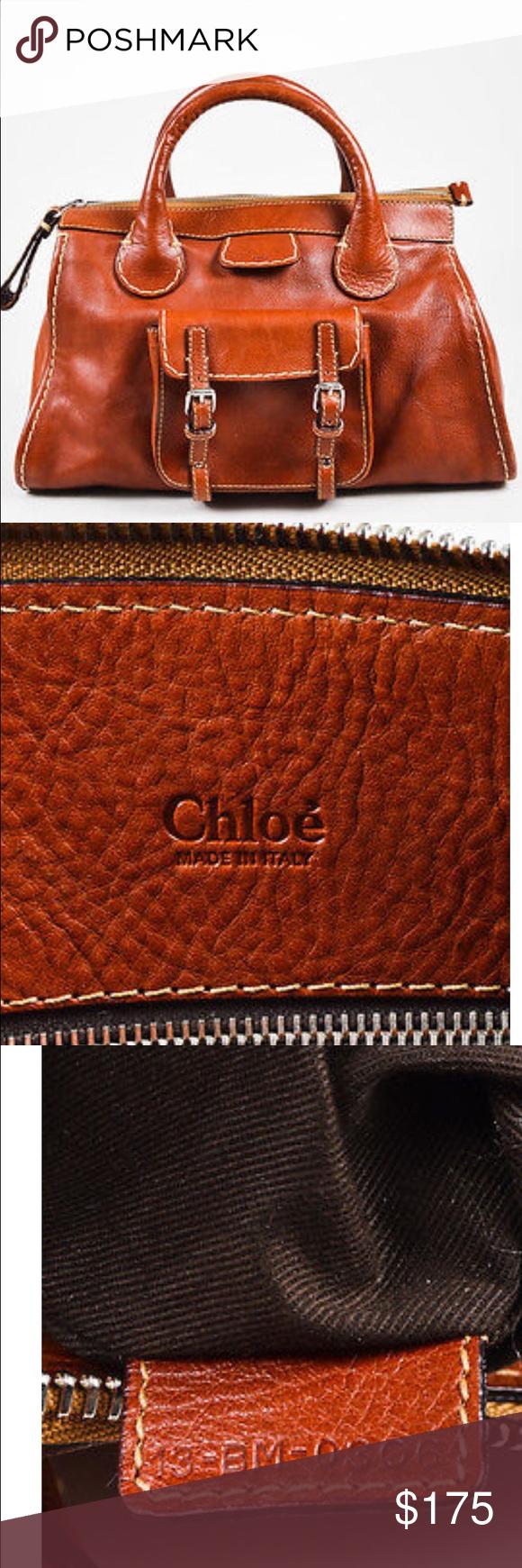 382b1ddbfb2 Authentic Chloe Cognac