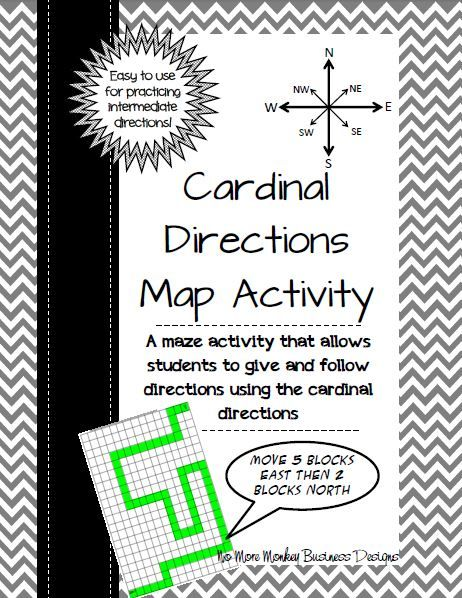 Map directions activity tpt social studies lessons pinterest a great map activity to have students practice using cardinal and intermediate directions ibookread PDF