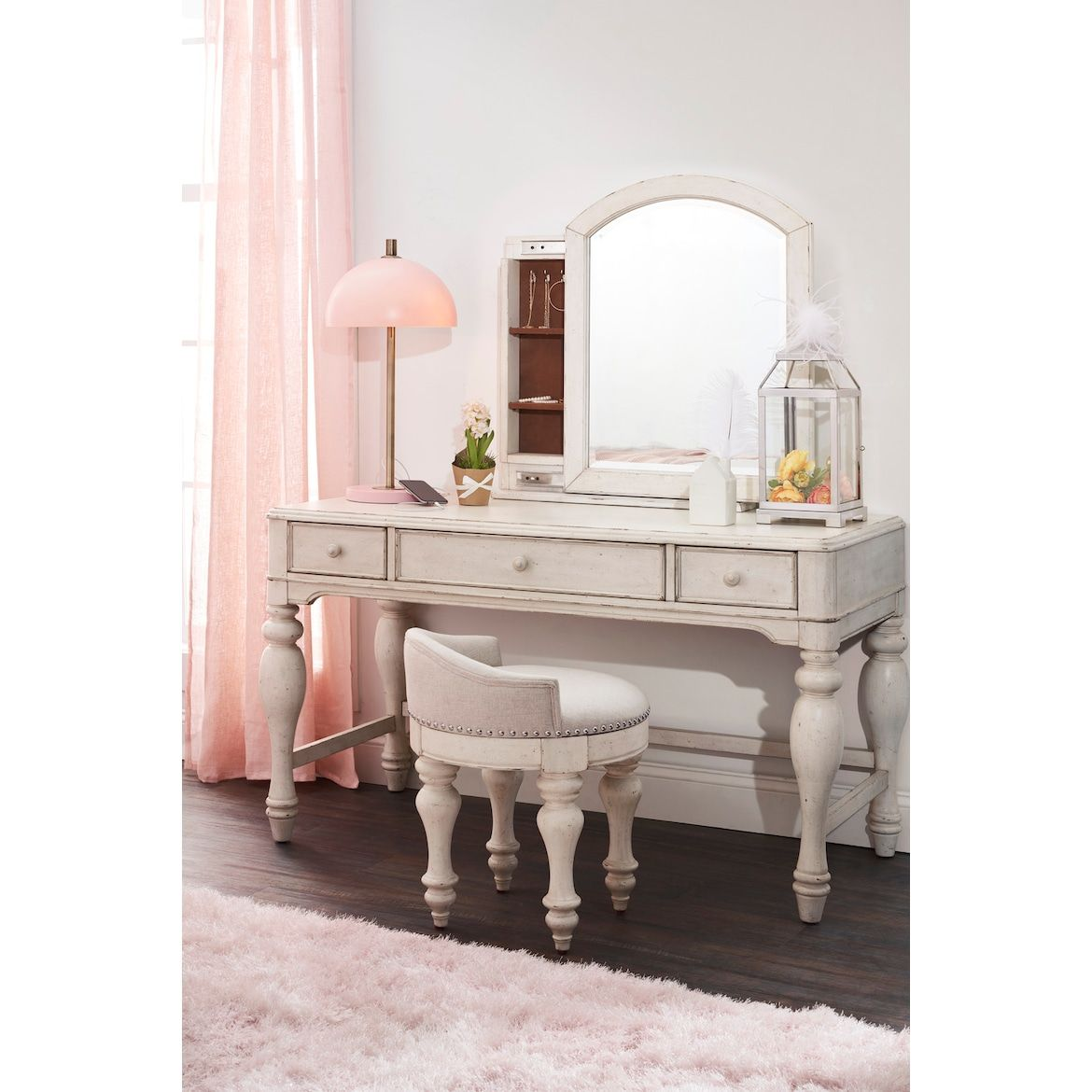 Florence Vanity Desk and Stool American Signature