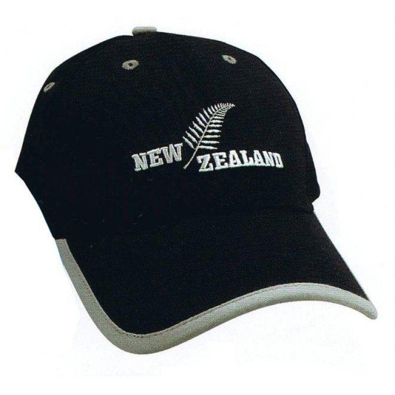 e83a27278f9 Cotton Cap - NZ Fern - Black   Grey
