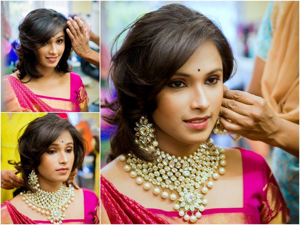 Brides #shorthair #hairstyles : Neeta-Shankar-Photography