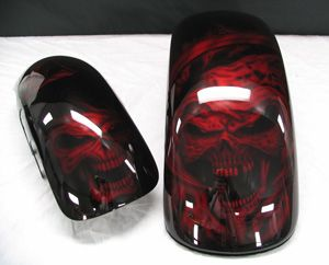 Black With Red Paint Jobs On Motorcycles Not Apparent At The Time Of The Paint Job Custom Motorcycle Paint Jobs Motorcycle Painting Motorcycle Paint Jobs