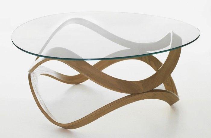 La table basse bois et verre en 43 photos d intérieur!   Salons 93b1ea693f74