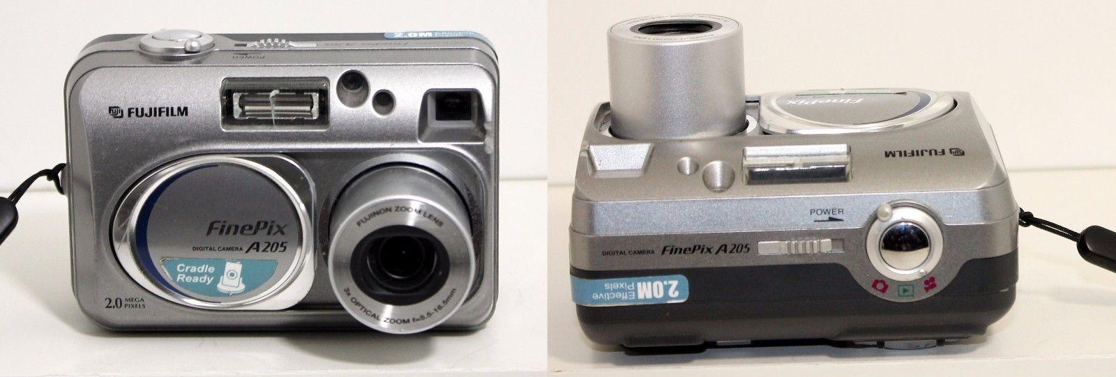 Fujifilm FinePix A Series A205 2.0 MP Digital Camera 3x Optical Zoom Silver