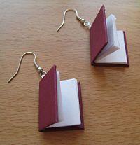 DIY book earrings