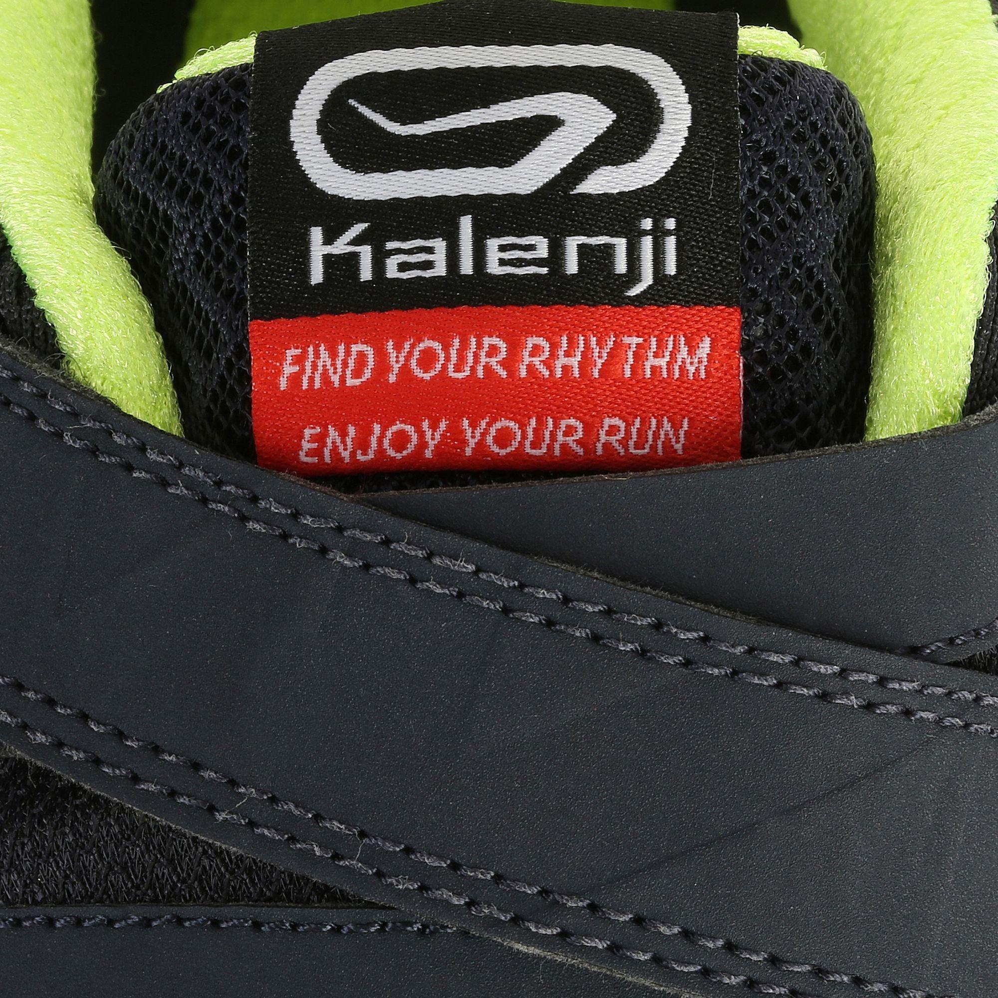 Chaussures De Running Eliofeet Man Gris Fluo Running Logo Running Decathlon