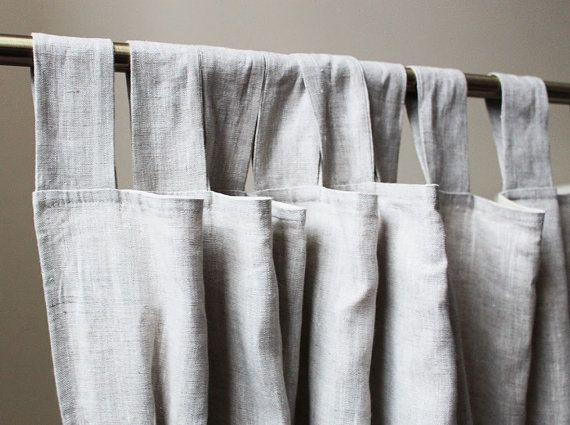 Light Grey Linen Curtains Curtain Panel Custom Lenght