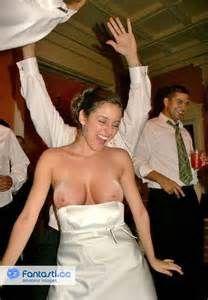 Bride wedding oops tits