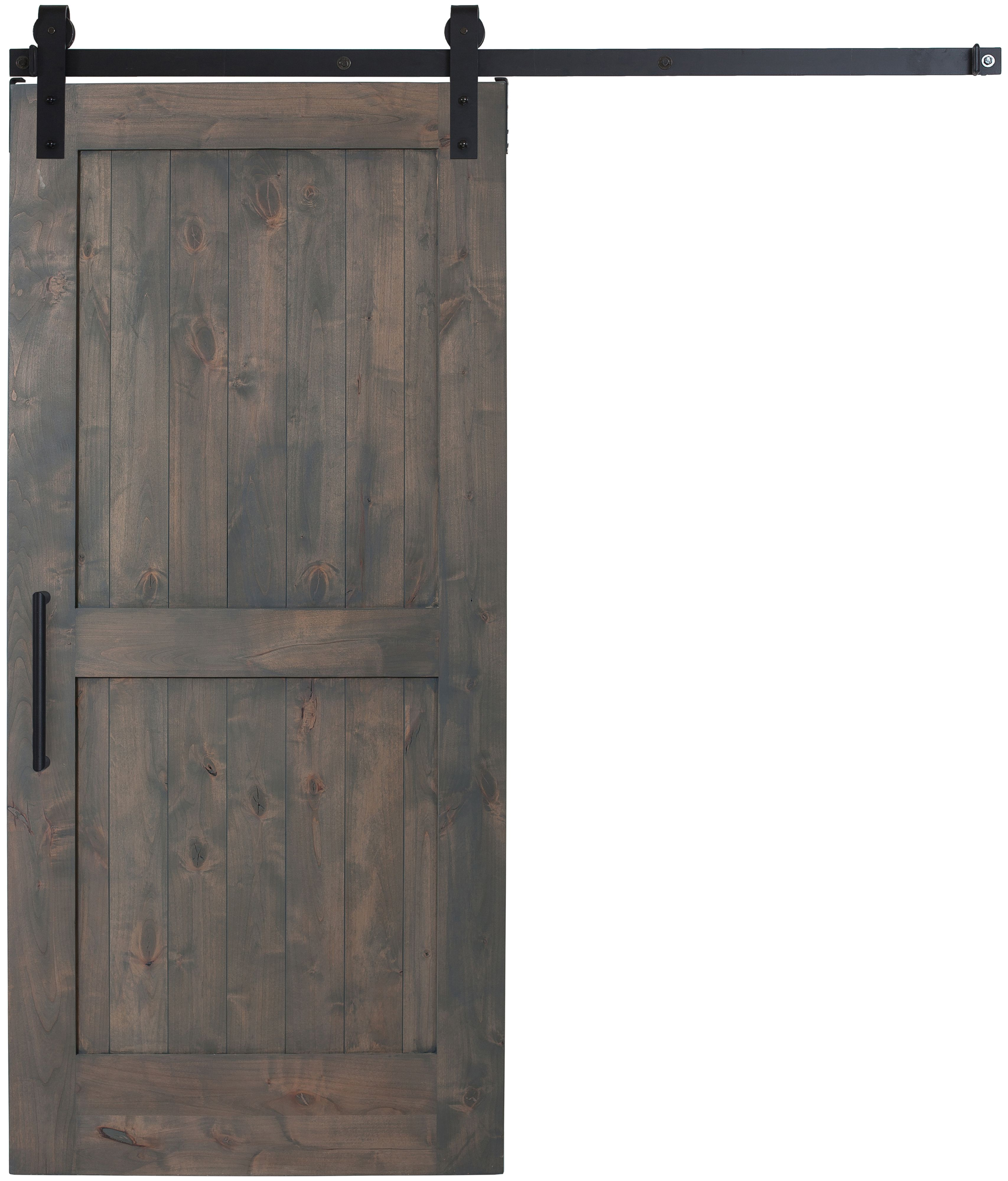 Our British Brace Barn Door In Special Walnut Stain Looks