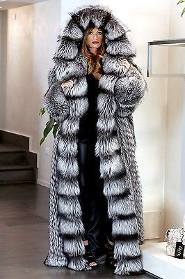 FUR COAT JACKET SILVER FOX SIMPLY WONDERFUL FULL LENGHT PELZMANTEL FUCHS лиса | Clothing, Shoes & Accessories, Women's Clothing, Coats & Jackets | eBay!