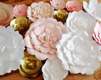Large Paper Flowers Flower Display Wedding Archway Set Of 5