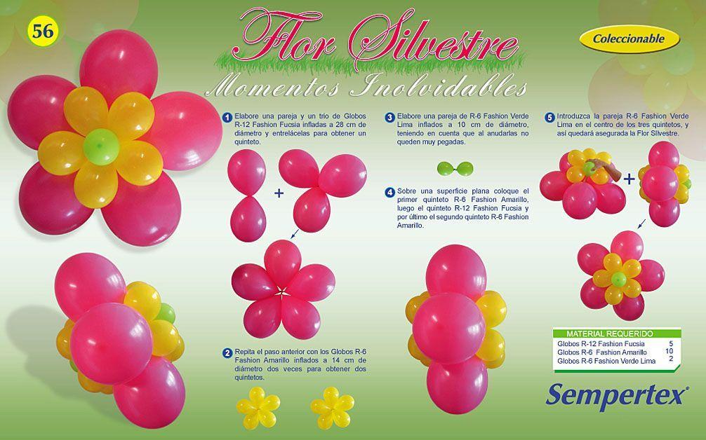 Figuras con globos paso a paso - Las Manualidades decoracion con