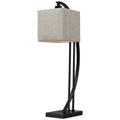 Dimond bronze metal arched desk lamp