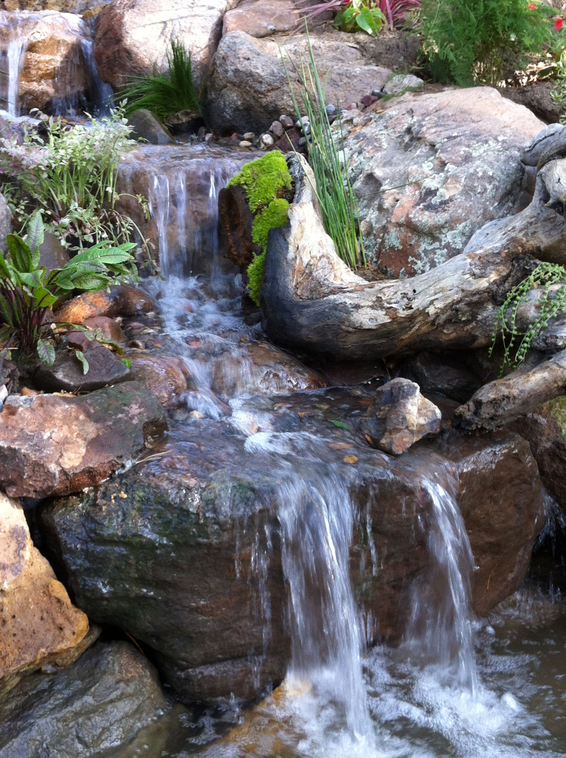 Close Up Of Waterfall By Mystic Water Gardens At The 2012 Pasadena Showcase  House