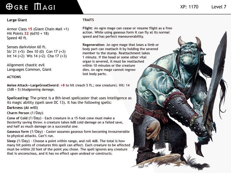 DnD-Next-Monster Cards-Dark Priest by dizman DnD 5th MonsterNPC`s