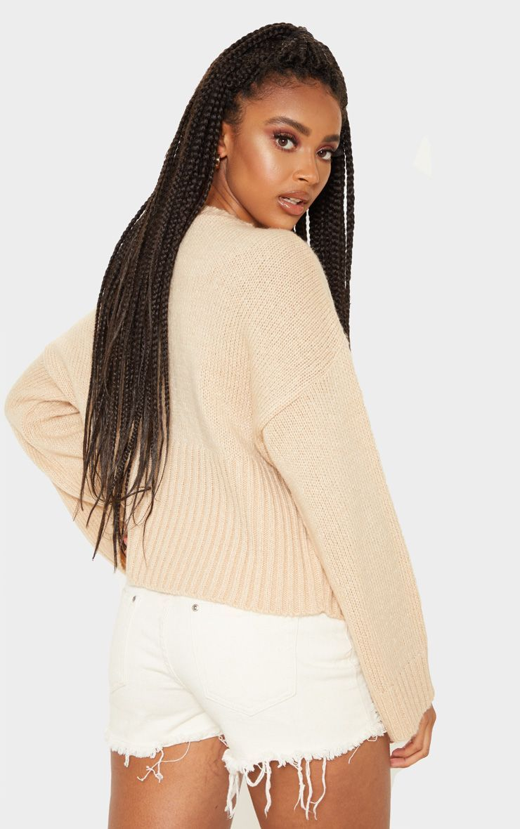 f4884a72632c30 Stone Laguna Oversized Cropped Knitted Jumper in 2019 | Products ...
