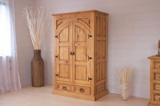 Kleiderschrank El Paso Holzmöbel massiv Pinie Schrank Schlafzimmer - schränke für schlafzimmer