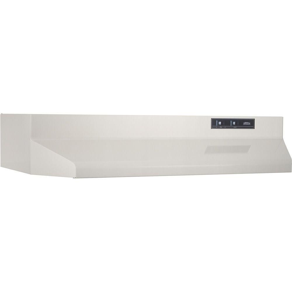 Broan Nutone 42000 Series 30 In Under Cabinet Range Hood With Light In White 423001 The Home Depot Broan Range Hood Under Cabinet Range Hoods