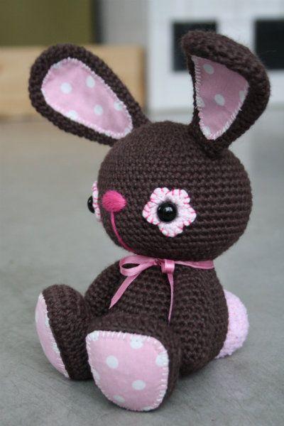 Chocolate bunny   Toys   Pinterest   Patrones amigurumi, Osos y Patrones