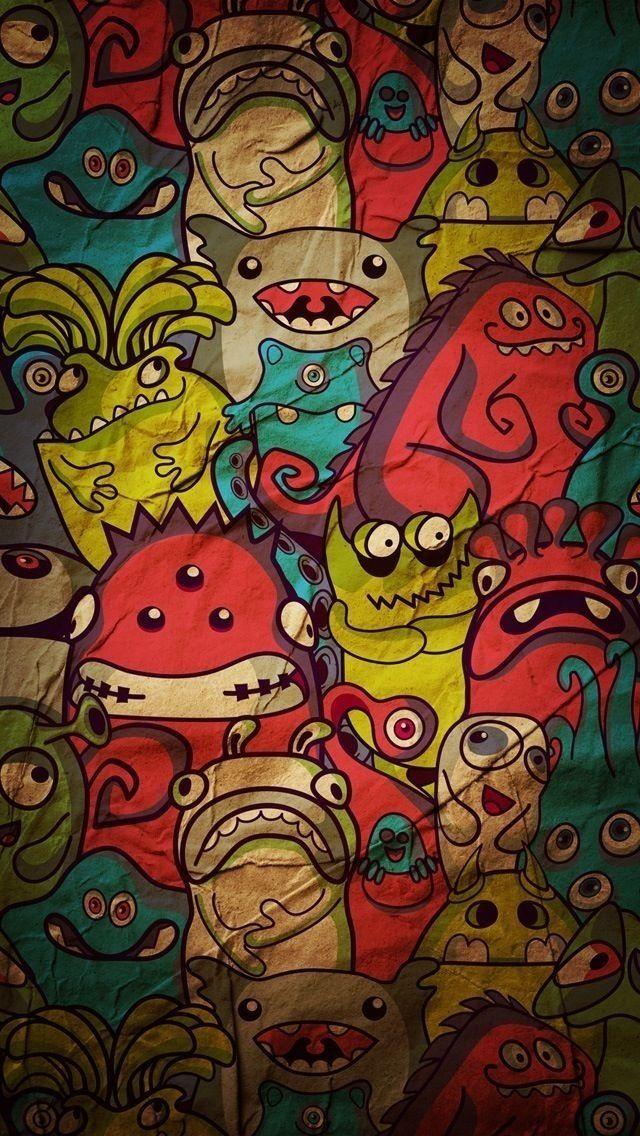 Free Download Funky HD Wallpaper Seni doodle, Seni