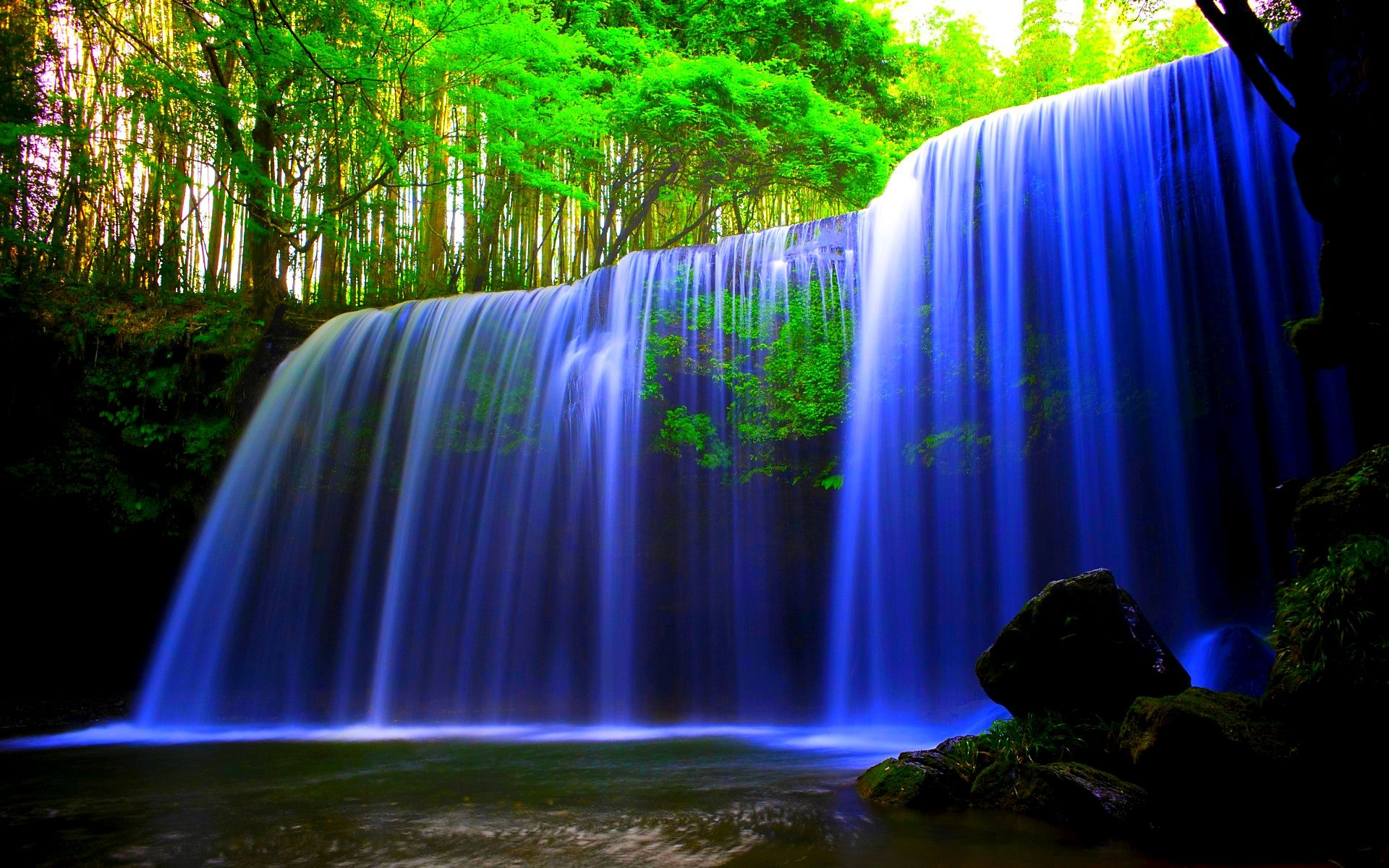 Forest Waterfalls Desktop Background Wallpapers Hd Free 597177 Waterfall Wallpaper Water Live Wallpaper Moving Wallpapers