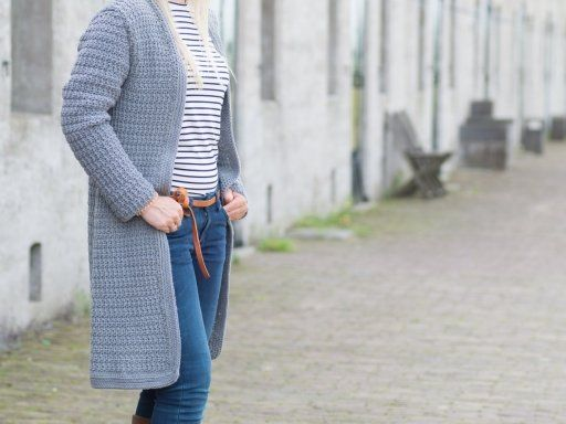 Haakpatroon Lang Vest Jolie Haken En Breien Pinterest Crochet