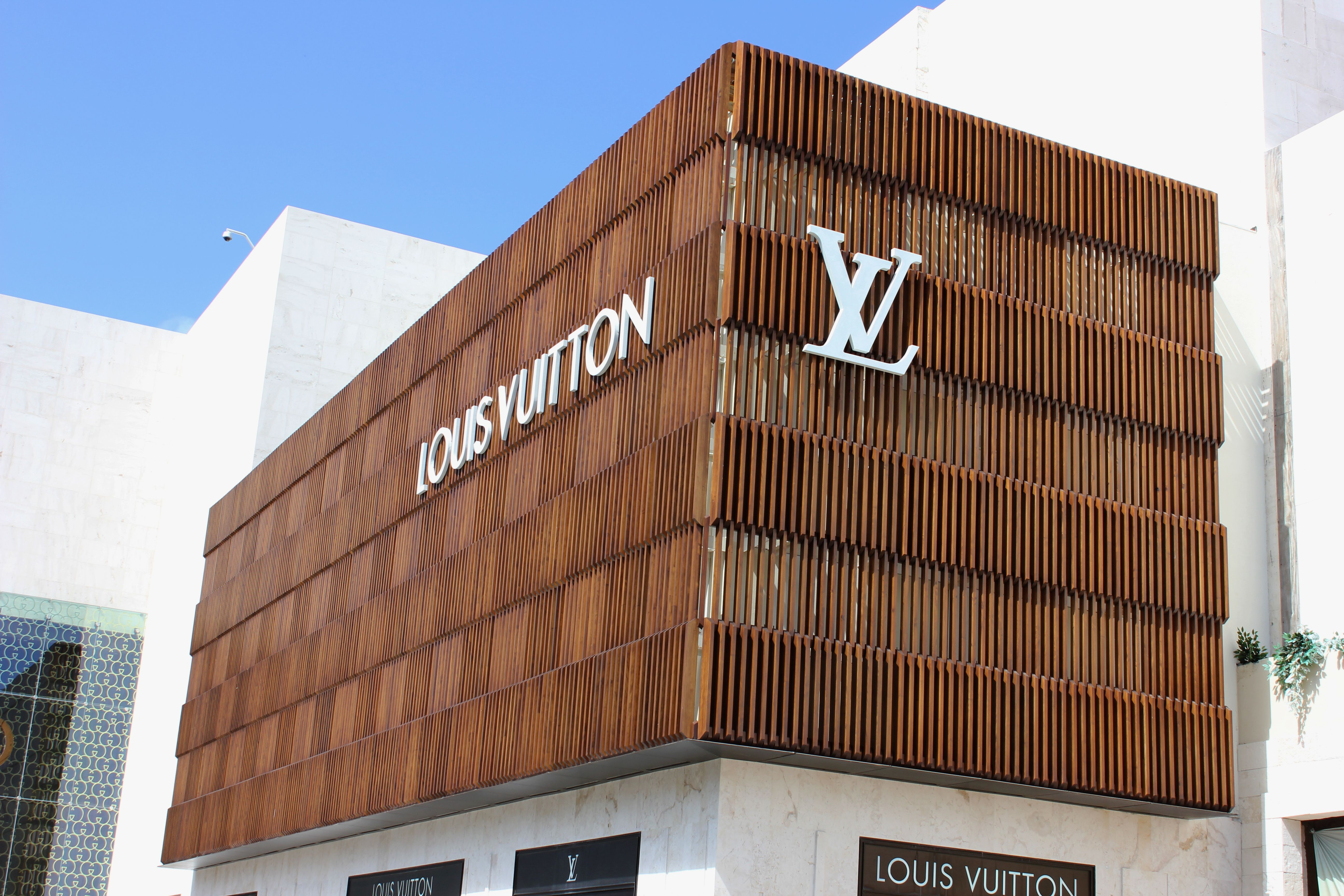 Luxury brand louis vuitton uses accoya wood for stunning for External wood cladding