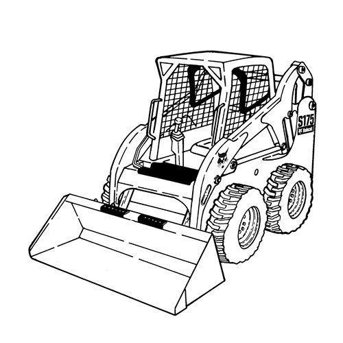 Bobcat Skid Steer Coloring Pages Coloring Pages Tractor