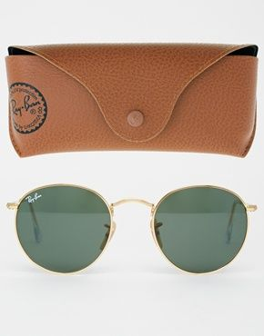 Ray-Ban Round Metal Sunglasses at asos.com