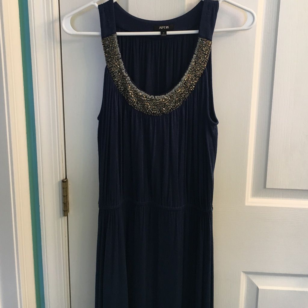 Dark blue beautiful high low dress high low and products