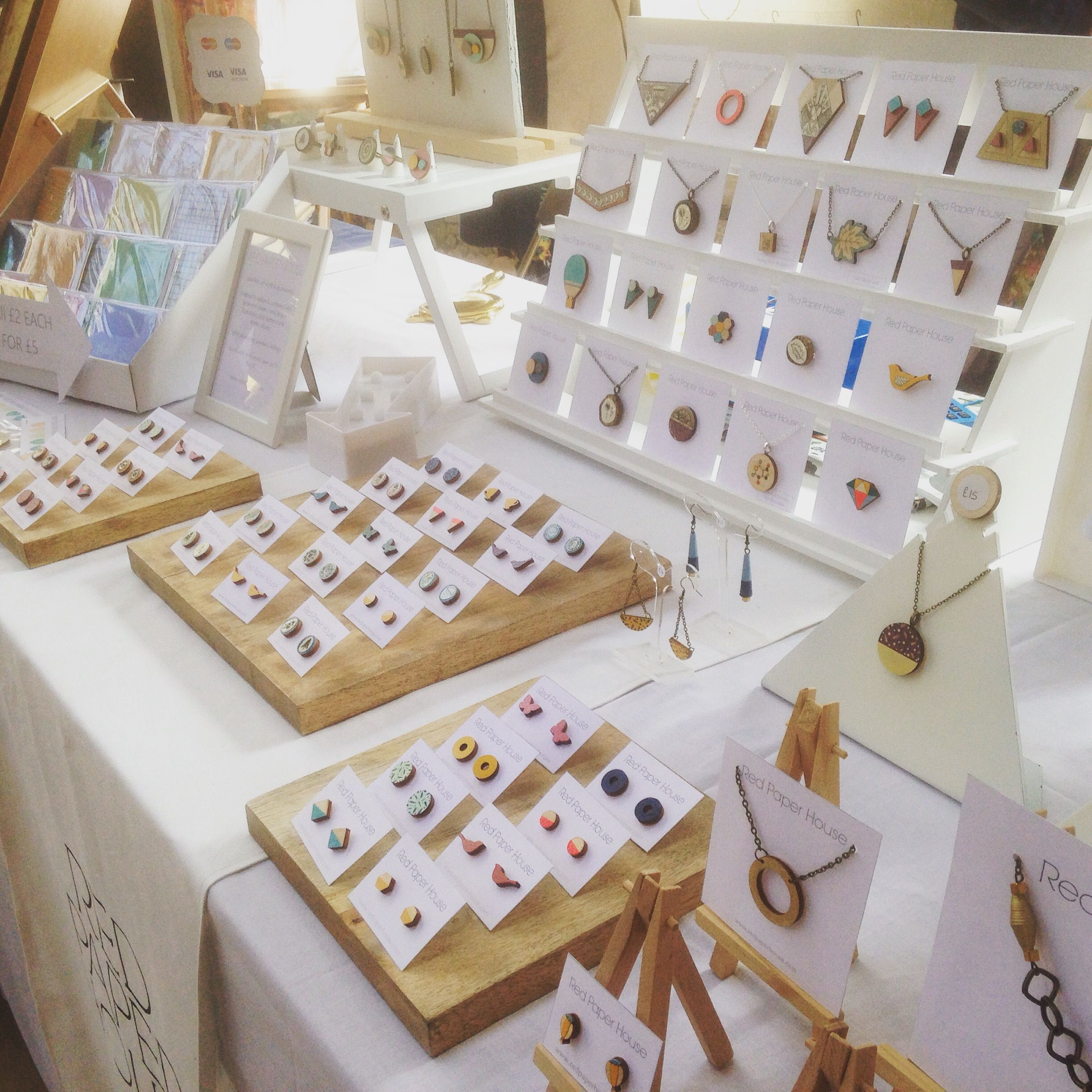 Pin by red paper house on red paper house craft fair displays craft fair displays shop displays red paper crafting summer fair handmade jewellery paper houses shops leeds jeuxipadfo Image collections