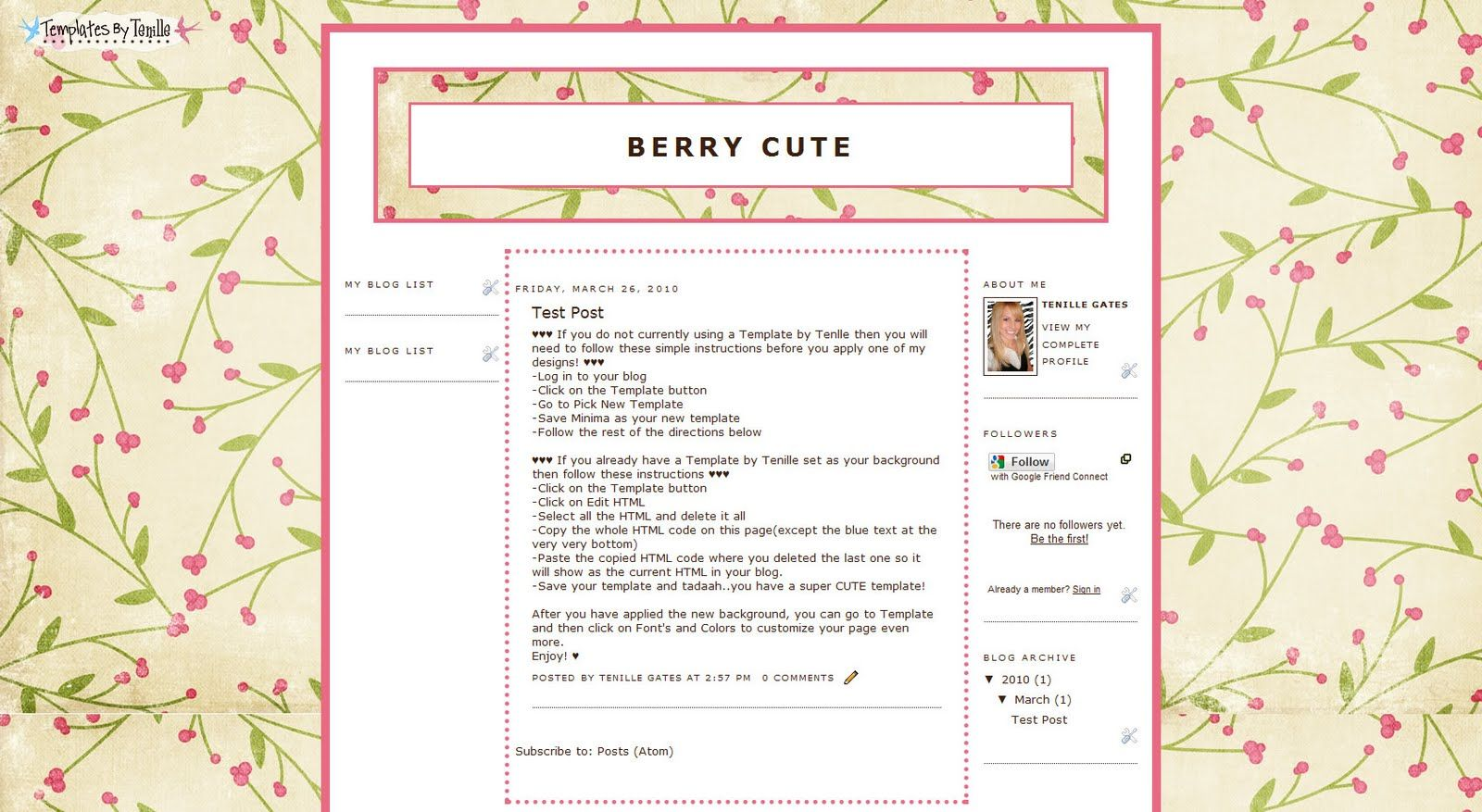 Templates by Tenille: Free Templates
