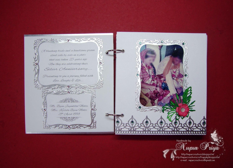 Scrapbook ideas for anniversary - Nupur Creatives 25th Wedding Anniversary Scrapbook