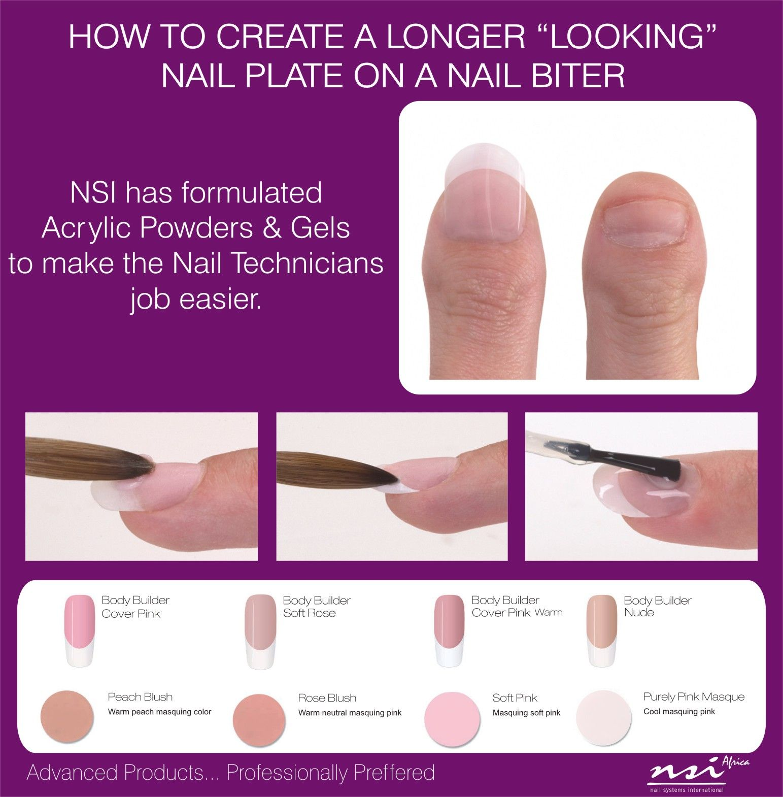 How to create a longer looking nail plate on a Nail biter
