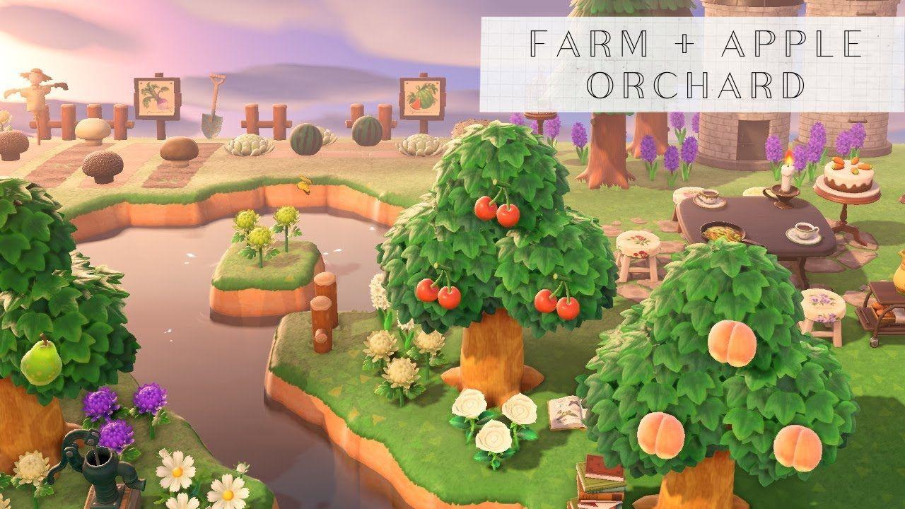 Apple Orchard Farm Animal Crossing New Horizons Design Animal Crossing Animal Crossing Game Animal Crossing Qr