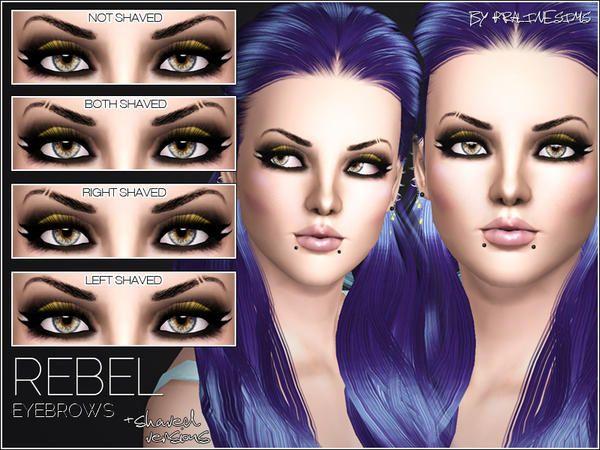 Pralinesims' Rebel Eyebrows +SHAVED VERSIONS