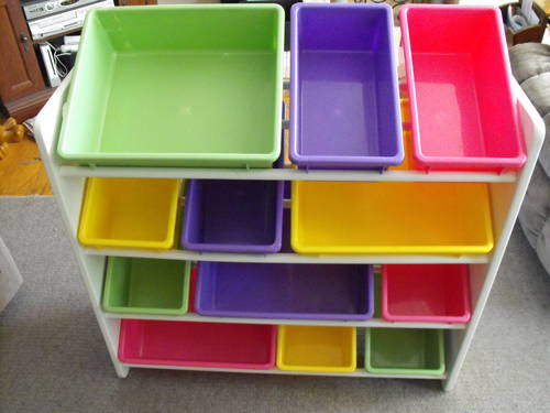 Toy Organizer With Bins Kids Storage Sure That The Bin Is Able To